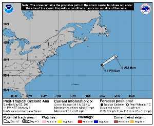 Perturbation Ana : prévision du NHC sur Meteo Tropicale - Meteo des cyclones