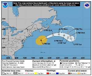 Rémanence Odette : prévision du NHC sur Meteo Tropicale - Meteo des cyclones