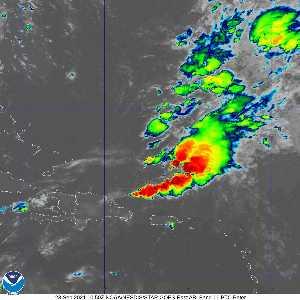Météo de ouragans : image satellite infra rouge pour AL162021