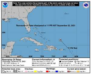 Météo de ouragans : prévision du NHC pour AL162021