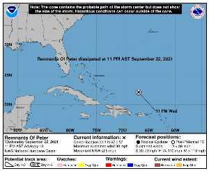 Perturbation Peter : prévision du NHC sur Meteo Tropicale - Meteo des cyclones