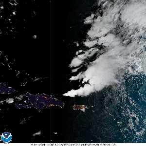Météo de ouragans : image satellite visible pour AL162021