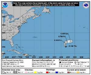 Perturbation Rose : prévision du NHC sur Meteo Tropicale - Meteo des cyclones