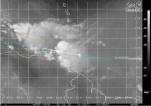 Tempête Gonzalo - image satellite - 25 juillet 2020 - 14h30 UTC