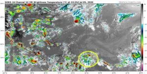 Image satellite Atlantique le 5 juillet 2020