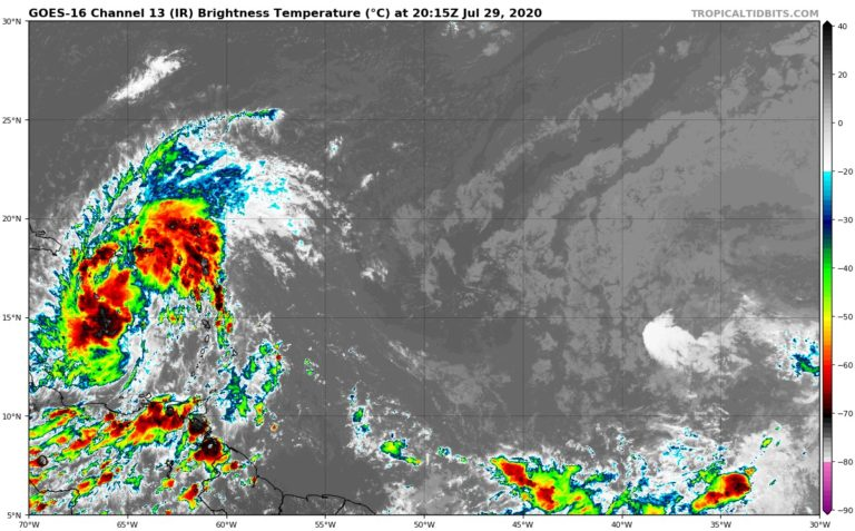 Cyclone potentiel #9 - satellite - 18h UTC