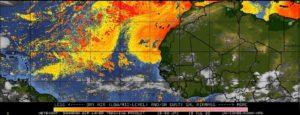 Air sec et sable (SAL) sur l'Atlantique le 19 juillet 2020