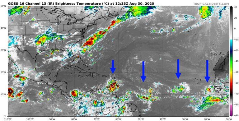 Image satellite le 30/08/2020 à 12h UTC