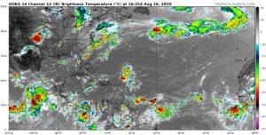 Image satellite Atlantique 16 aout 2020 16h UTC