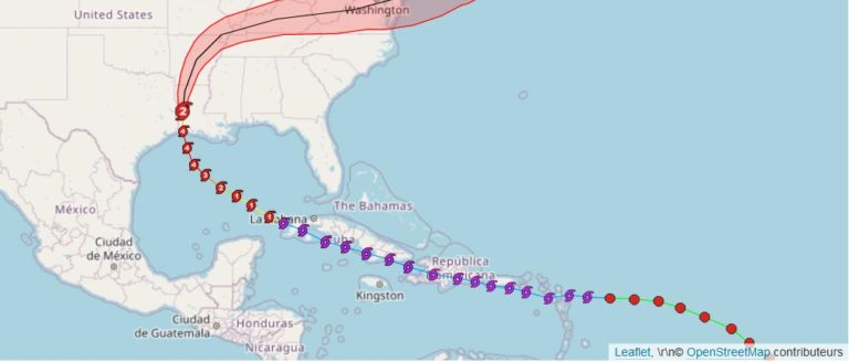 Tracking ouragan laura