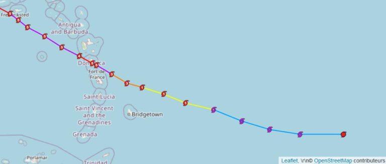 Tracking ouragan Maria 2017