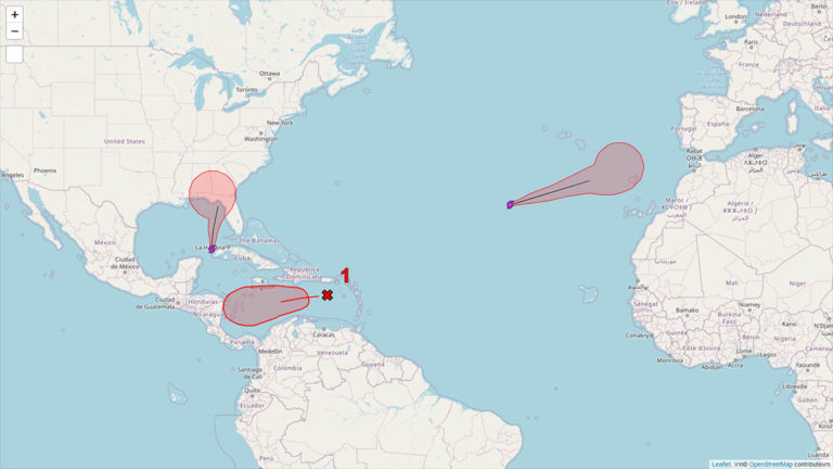 Situation cyclonique en Atlantique le 10 novembre 2020