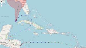 Le cyclone ETA complètement fou