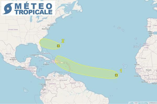 Situation cyclonique en Atlantique le 27/6/2021