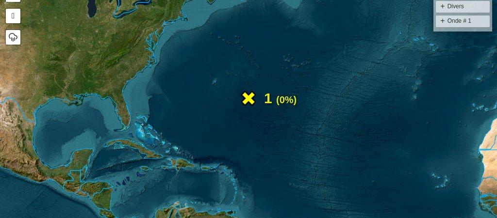Situation météo tropicale en Atlantique